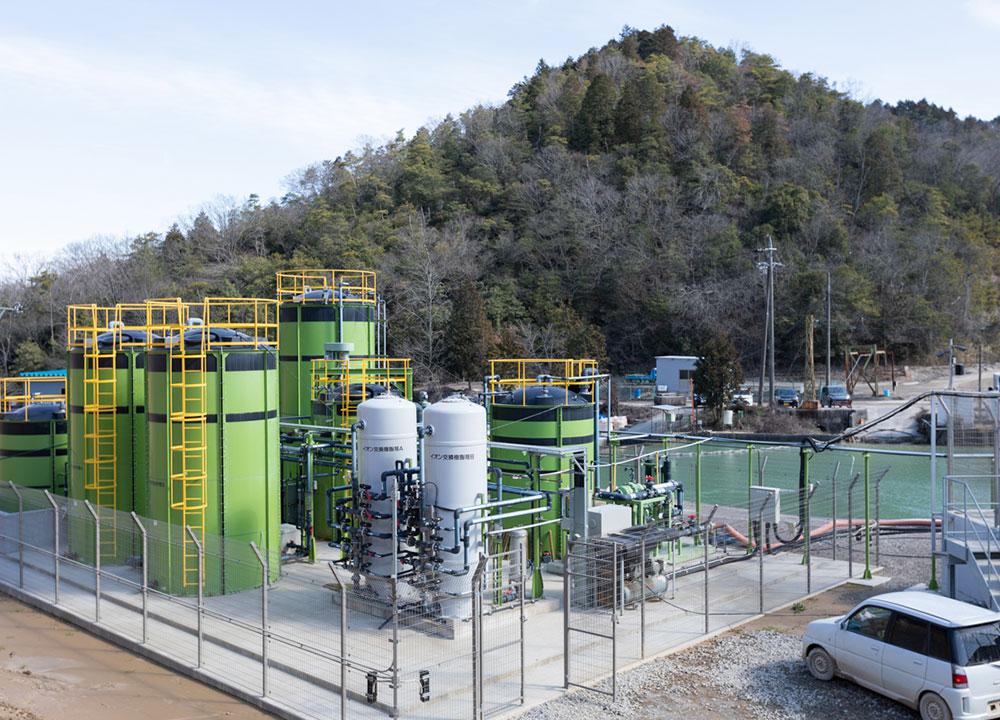 イオン交換(キレート樹脂)水処理施設